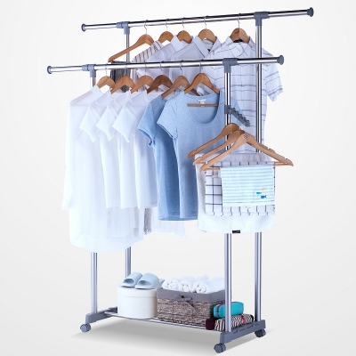 Adjustable Double Rod Garment Rack  104