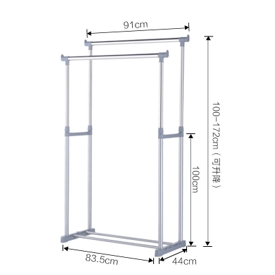 Extenable Doble Rod Garment Rack  109